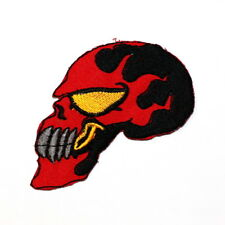 Red Flame Skull Motorcycles Biker Harley Rocker DIY Clothes Jacket Iron on patch