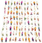 1:100 HO Scale Models People Set, Airlxf 100PCS DIY Resin Scale Figures Tiny Peo