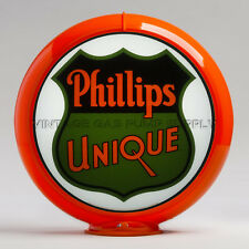 "Phillips Unique 13.5"" Gas Pump Globe w/ Orange Plastic Body (G161)"