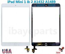 iPad Mini 1 & 2 A1432 A1489 Touch Screen Digitizer IC Home Button Flex White