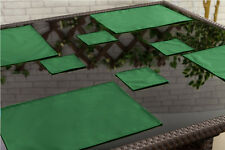 Green 4 Pack of Coasters Outdoor Alfresco Waterproof Garden Dining Fabric