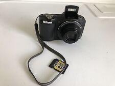 NIKON COOLPIX L610 16.0MP Digital Camera - Black W/8GB Memory Card Works