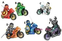 Ninjago Ninja Motorbike Motorcycle Warriors Jay Zane Kai Custom Lego Mini Figure