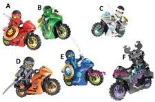 Ninjago Ninja Motorbike Motorcycle Custom Lego Mini Figure Warriors Jay Zane Kai