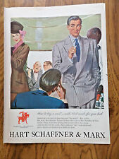 1948 Ad Hart Schaffner & Marx Ad  How to buy a Suit Made for you Look