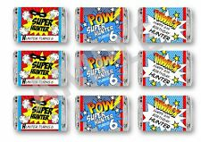 Super Hero Mini Candy Bar Wrappers - For Child or Adult Birthday - Set of 84