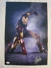 Robert Downey Jr & Stan Lee Signed Ironman 12x18 Photo - JSA COA - The Avengers
