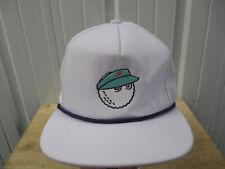 MALBON GOLF LOGO WHITE SNAPBACK  HAT CAP MADE IN THE USA LOS ANGELES