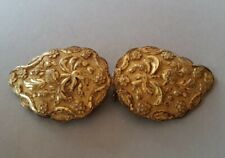 ANTIQUE jewelry Ottoman gold plated belt buckle SILVER alloy with strawberries