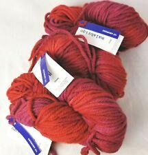 INTENSO Red+Pinks 100gr Skein 100yd Malabrigo CHUNKY Soft MERINO Wool Bulky YARN