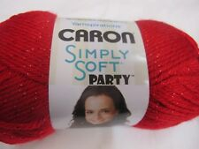 CARON SIMPLY SOFT PARTY YARN,85 GRS,2 BALLS RED,NEW