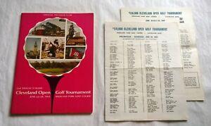 1964 CLEVELAND OPEN GOLF Tournament PROGRAM w/INSERTS Pro-Am & Saturday GOLFERS