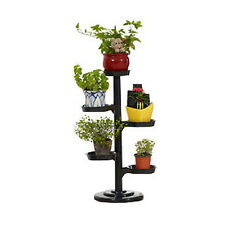 Mini Garden Multi-layer Plant Display Stand Indoor Outdoor Flowers Rack Black