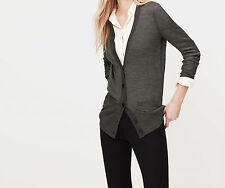 Ann Taylor LOFT Relaxed Cardigan Sweater Top Size X-Small NWT Dark Ash Melange