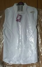 Fitted 100% pure cotton long sleeve blouse white 16 years BNWT Eczema clothing
