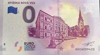 BILLET 0 EURO  SPISSKA NOVA ES SLOVAQUIE 2019-1 NUMERO DIVERS