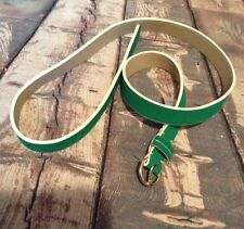Lands End Womans Kelly Green White Striped Belt Size Small