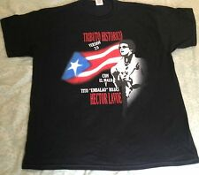 Hector Lavoe Tribute PR FLAG T-shirt Black 2XL Malissimo records logo on bac