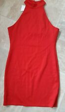 BNWT, Asos, Ladies High Neck, Red Dress, Size 12