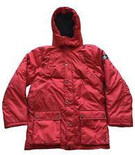 Nautica Womens Size XL Red Down Puffer Jacket Winter Coat, Zipper/Button, Pocket