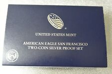 2012-S San Francisco Silver Eagle 2 Coin Set w/Coa Anacs Rp70/Pr70 Coins Fdi