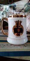 HMS JUNO Tankard White With Gold Rim HMS Juno Emblem Ray Denteth