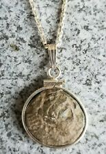 Alexander The Great Authentic Ancient Greek Coin Pendant 925 Silver Necklace