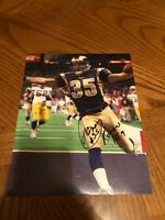 AENEAS WILLIAMS ST. LOUIS RAMS SIGNED AUTOGRAPHED 8X10 PHOTO HALL OF FAME 2014