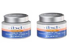 IBD UV builder gel 2oz 56g hard gels polish clear pink 60402 60412