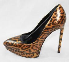 AUTH $875 YSL Saint Laurent Women Leather Pumps Shoes 37