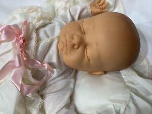 "Vintage Berjusa Original 21"" Sleeping Newborn Vinyl & Cloth Baby Doll Spain 1984"