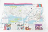 1967 Montreal World's Fair Detailed and Colored Map - English and French by Esso