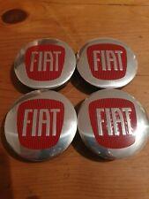 4x Fiat 57mm wheel centre caps