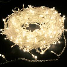 10m Warmweiße LED Lichterkette 100 LEDs Weihnachten Party Streifen Strip Deko