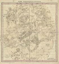 1856 Burritt / Huntington Map of Constellations in April, May, and June