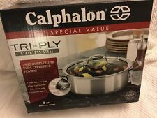 Calphalon  5-qt. Tri-Ply Stainless Steel Dutch Oven NewNew retail factory box Ca