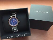 MARC JACOBS DOTTY Series Silver Tone with Blue Face Ladies MJ3467 Watch,NIB