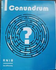 Conundrum Word Search And Crossword Puzzles Braille for the Blind ~ NEW LOOKS!