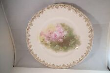 Vintage RC Bavaria Iris Decorative Dinner Plate Pink Roses