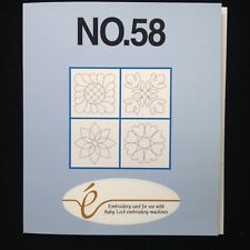 Quilting Blocks Quilt Embroidery Designs #58 for Bernina Deco Brother Baby Lock