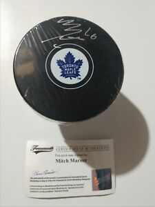Mitch Marner signed Toronto Maple Leafs hockey puck - Frameworth COA