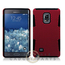Samsung Galaxy Note Edge Hybrid Mesh Case Red Shell Protector Guard Shield