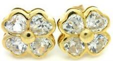 White Stud Sapphire Fine Earrings