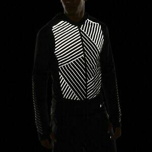 NEW Nike Men's AeroLoft Flash Running Vest Black Reflective Sz Large 859208 010