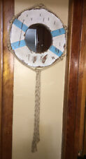 Hobby Lobby distressed Metal PORTHOLE Mirror Wall Hanging BOAT ROPE