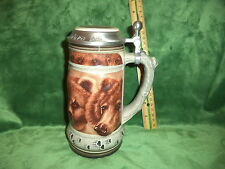 Anheuser Busch Budweiser The Grizzly Bear Stein Call Of The Wild Series Le Gl12