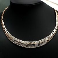 18K Rose Gold Plated Made With Swarovski Crystal Retro Pattern Collar Necklace