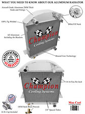 """2 Row 1"""" Cold Champion Radiator for 1917-1927 Ford Model T T-Bucket Chevy Config"""
