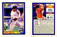 Darrin Jackson Signed 1990 Score #541 Card San Diego Padres Auto Autograph