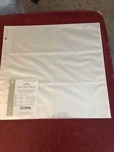 Hallmark Extra Large Album Refill AR2000 6-Pocket 8 Pages 4x6 Photos New Sealed